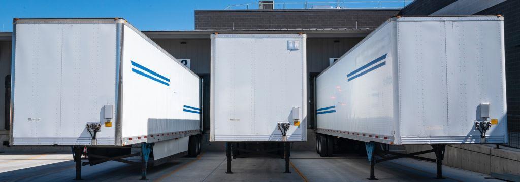 Lorries in loading bay